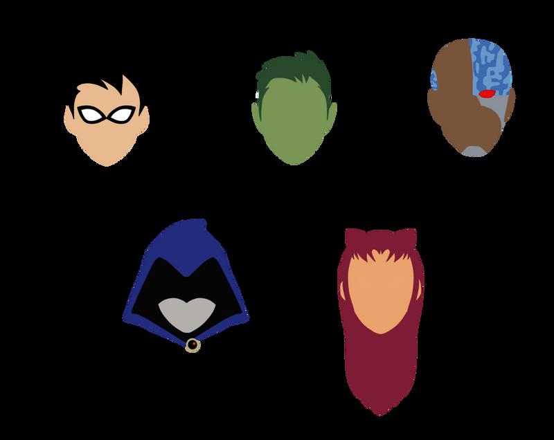 Minimal Teen Titans by paandra