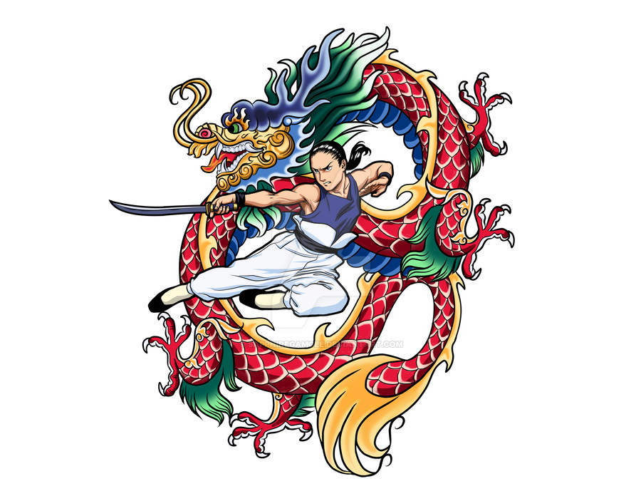 Dragon Tattoo Png: Wufei Dragon Tattoo By SapphireGamgee On DeviantArt