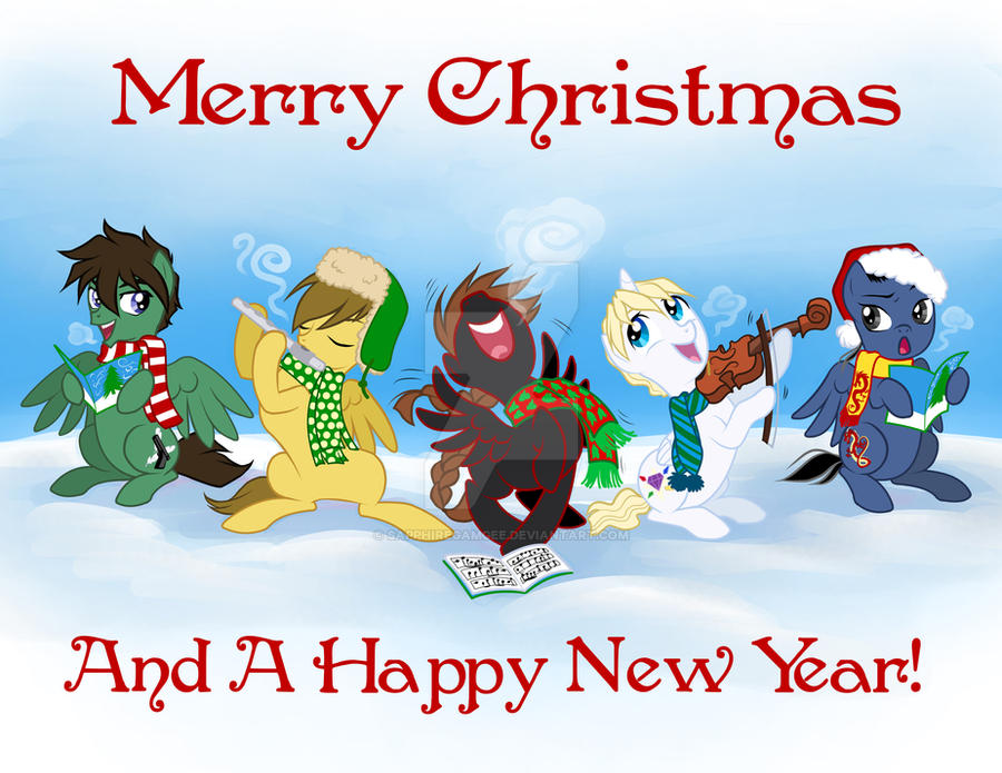 A Gundam Pony Christmas by SapphireGamgee