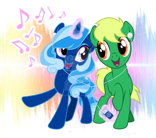 Decibelle and Sapphire: Music Buddies