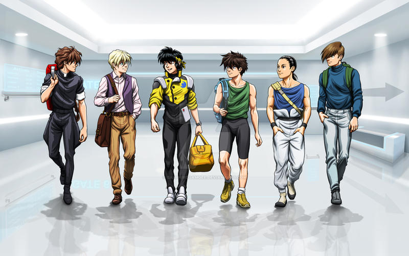 Commission: Ryoga and the Gundam Boys