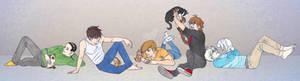Gundam Boys With Cats