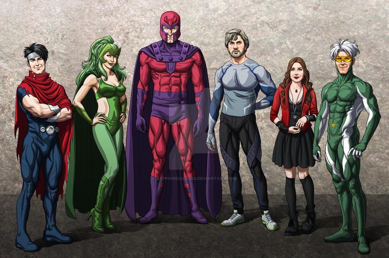 Commission: X-Men Family Portrait