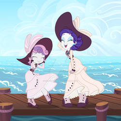 Rarity and Sweetie Belle Titanic Dresses