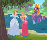 Commission: Disney Princess MLP Crossover by SapphireGamgee