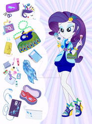 Equestria Girls Purse Meme: Rarity by SapphireGamgee
