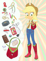 Equestria Girls Purse Meme: Applejack by SapphireGamgee