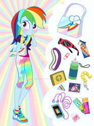 Equestria Girls Purse Meme: Rainbow Dash by SapphireGamgee