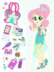 Equestria Girls Purse Meme: Fluttershy by SapphireGamgee