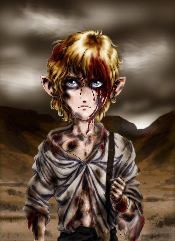 Sam in Mordor by SapphireGamgee