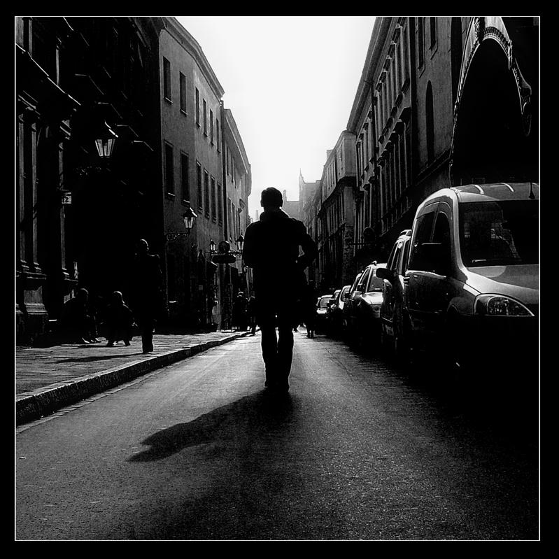 walking dawn the street by blindbird