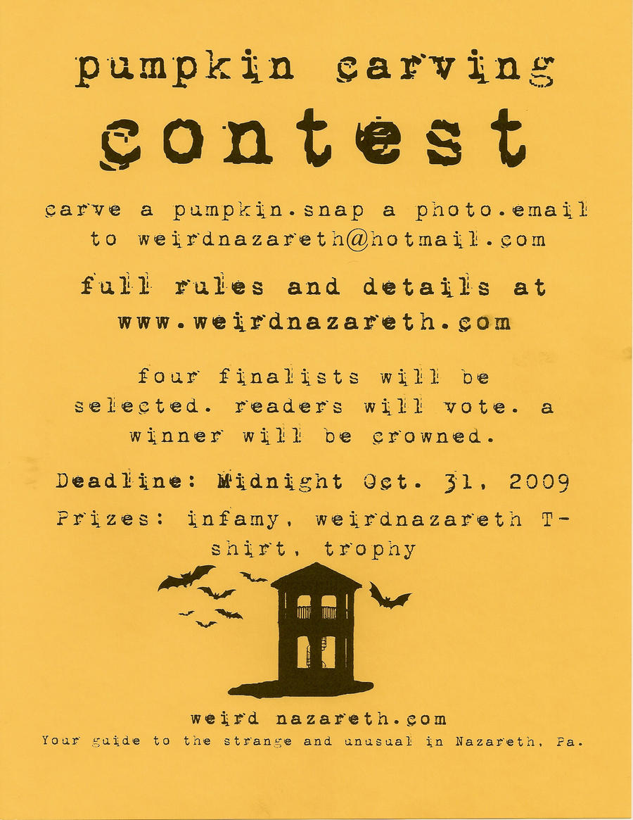 Pumpkin Carving Contest Flyer by thepapierboy