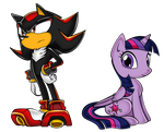 Sonic Channel style - Shadow and Twilight by FerrumFlos1st