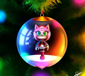 Amy Rose ornament by Silvia Cat by FerrumFlos1st
