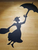 'Mary Poppins' silhouette by Thastygliax