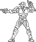 Pixel Art Spartan Outline by Freshmilk2009