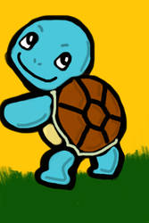 iPod Touch Squirtle Painting by Freshmilk2009