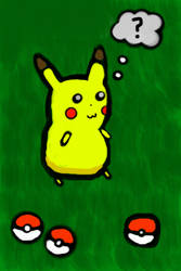 iPod Touch Pikachu Painting by Freshmilk2009