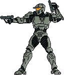 Pixel Art Halo Wars Spartan by Freshmilk2009