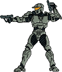 Pixel Art Halo Wars Spartan by Freshmilk2009