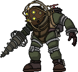 Pixel Art Big Daddy by Freshmilk2009
