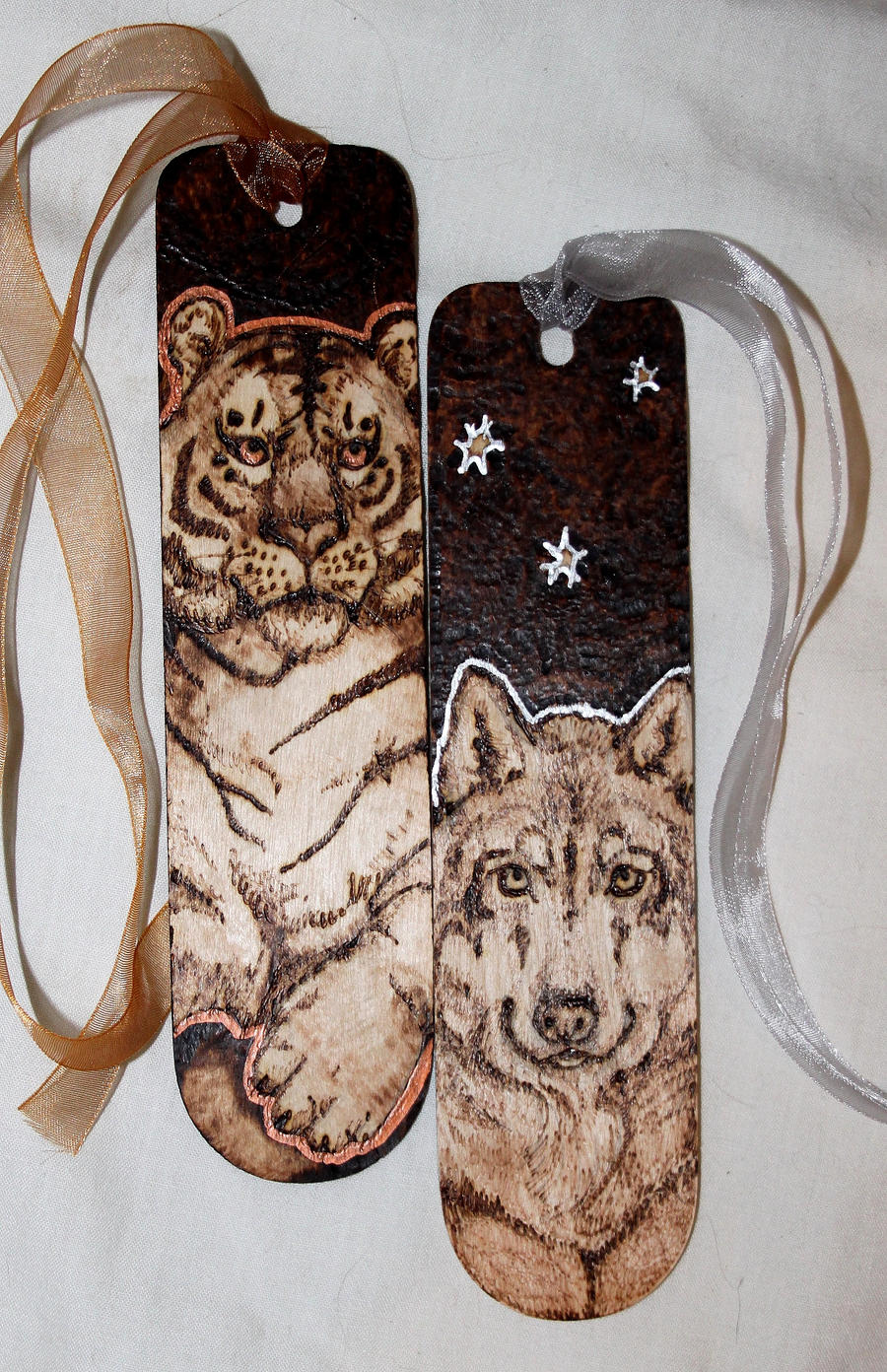Sun Tiger Wolf Moon bookmarks by BumbleBeeFairy on DeviantArt