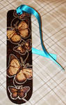 Pyrography Butterfly bookmark
