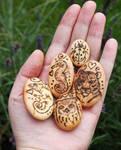 Small totem pebbles