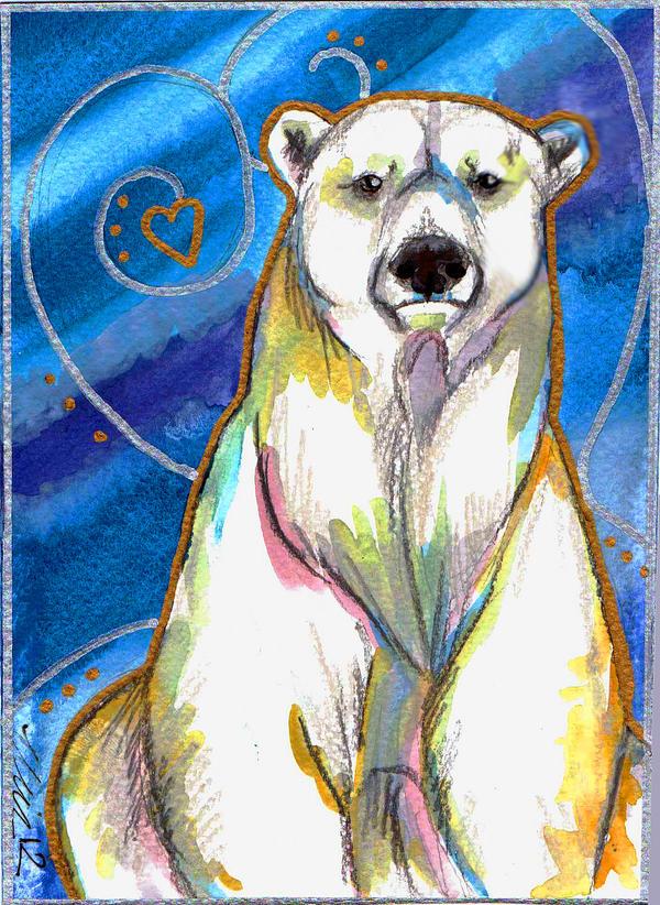 Polar Bear Watercolour By Bumblebeefairy On Deviantart