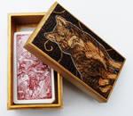 Pyrography Wolf Tarot Box