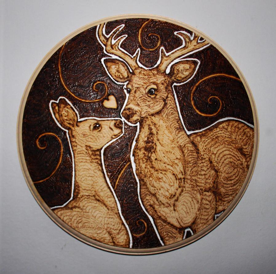 Deer Love by BumbleBeeFairy