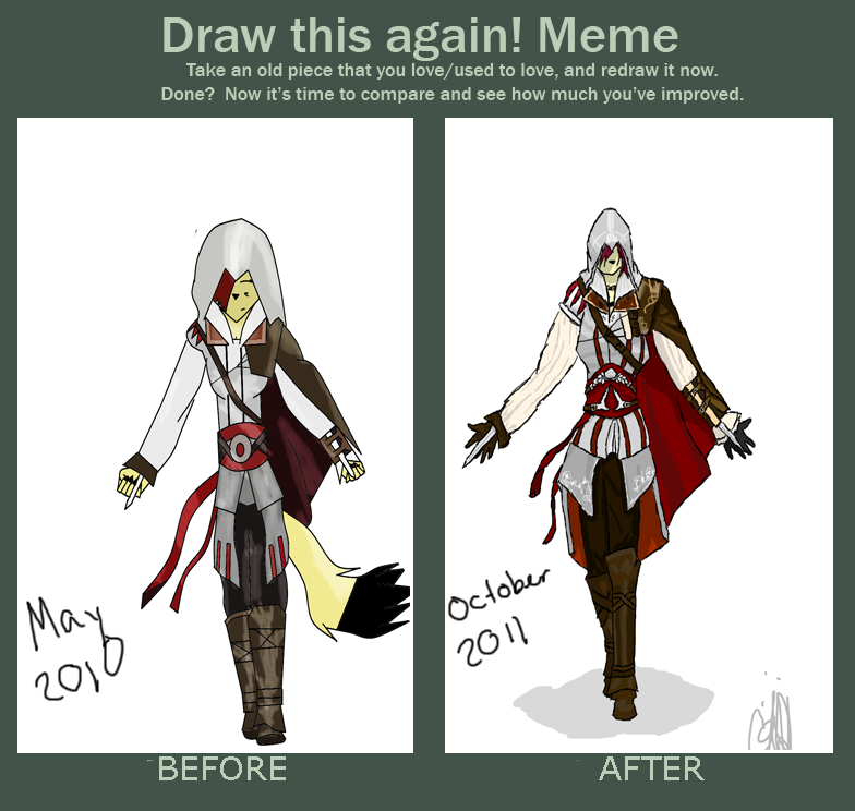 Assassin S Creed Redraw Meme By Raven The Foxx On Deviantart