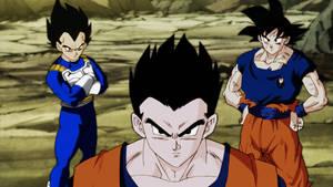 Recoloreo : Goku,Gohan y Vegeta por GrayRain