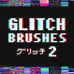 Glitch Brushes 2 - Clip Studio Paint