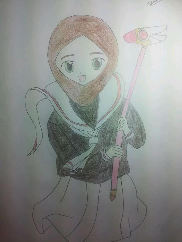 Card Captor Sakura Wearing Hijab