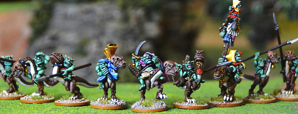 Orcling Outriders by WarmongerMiniatures