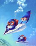 Penguins on a Plane