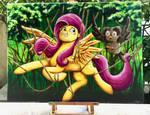La pouliche et le hiboux Color Sceem Painting  by ColorSceemPainting