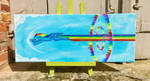 Sonic Rainboom Color Sceem Painting by ColorSceemPainting