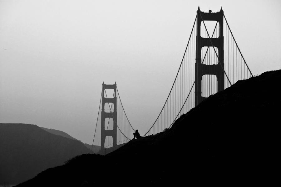 Solitude (Golden Gate Bridge) by nyl