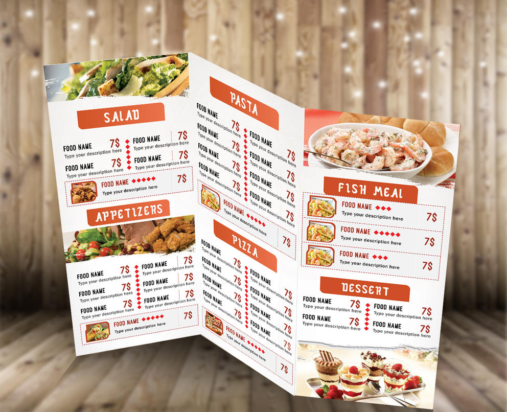 trifold food menu by rgbdesigner on deviantart