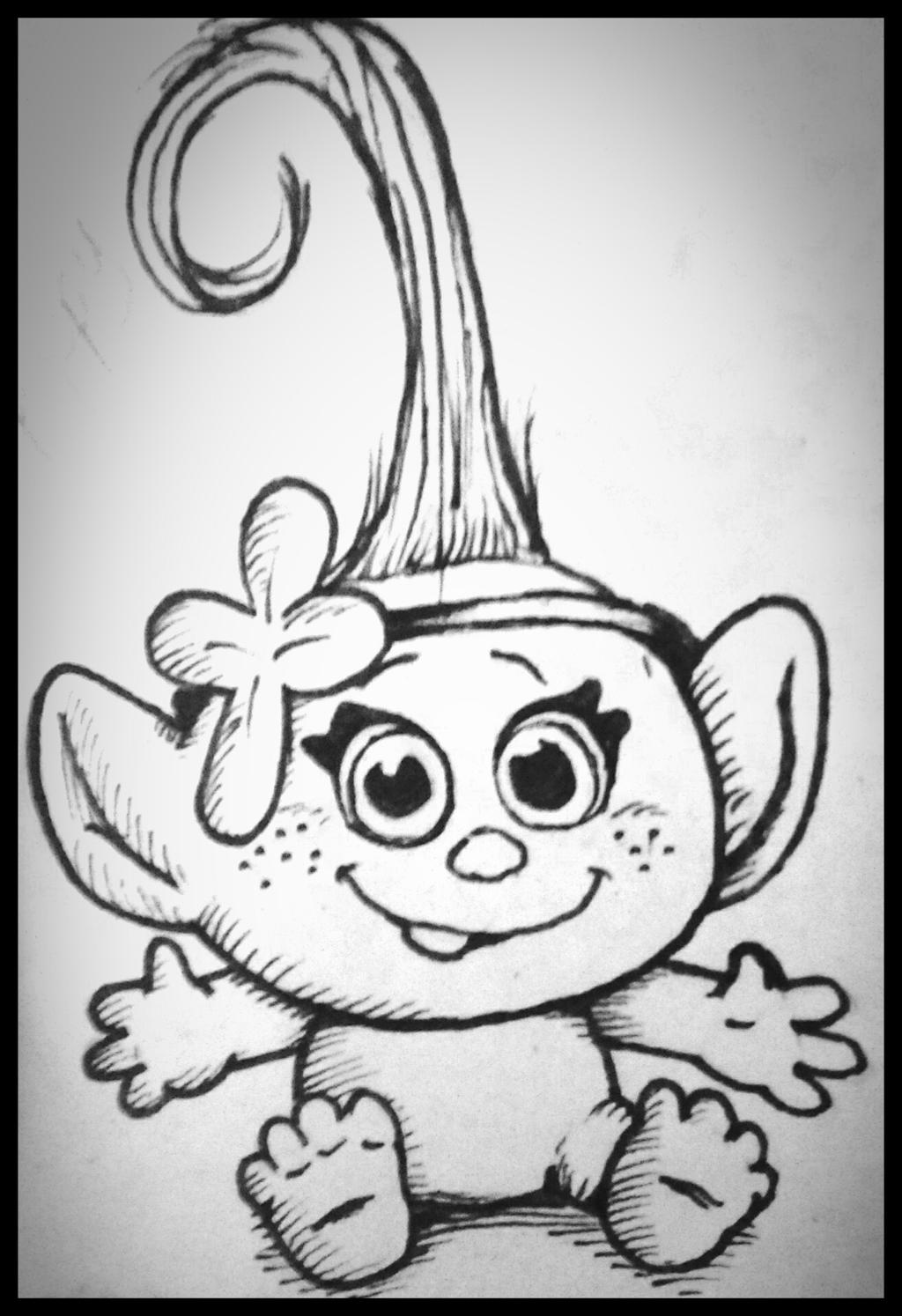 Baby Poppy Troll - Free Coloring Pages