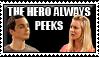 The Hero Always Peeks Stamp by iRaccoon