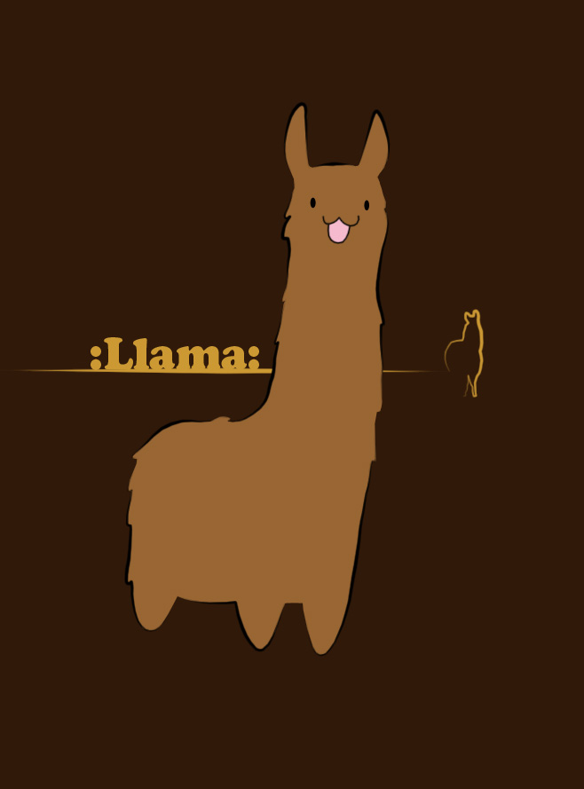 Simple Llama by Currykat
