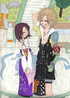 ++Tidus and Yuna++ by tin-sama