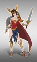 Wonder Woman Warrior by FlyanTan