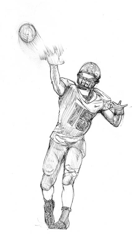 College Football Sketch by camp6boy