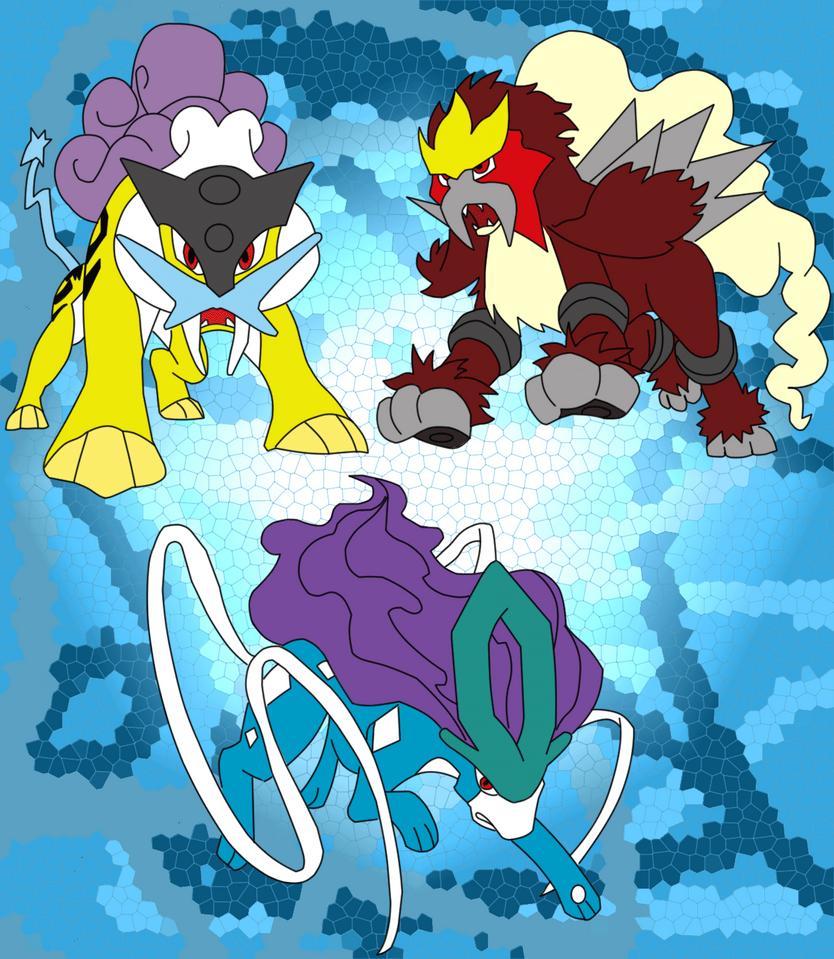 Raikou, Entei and Suicune by FNTO on DeviantArt