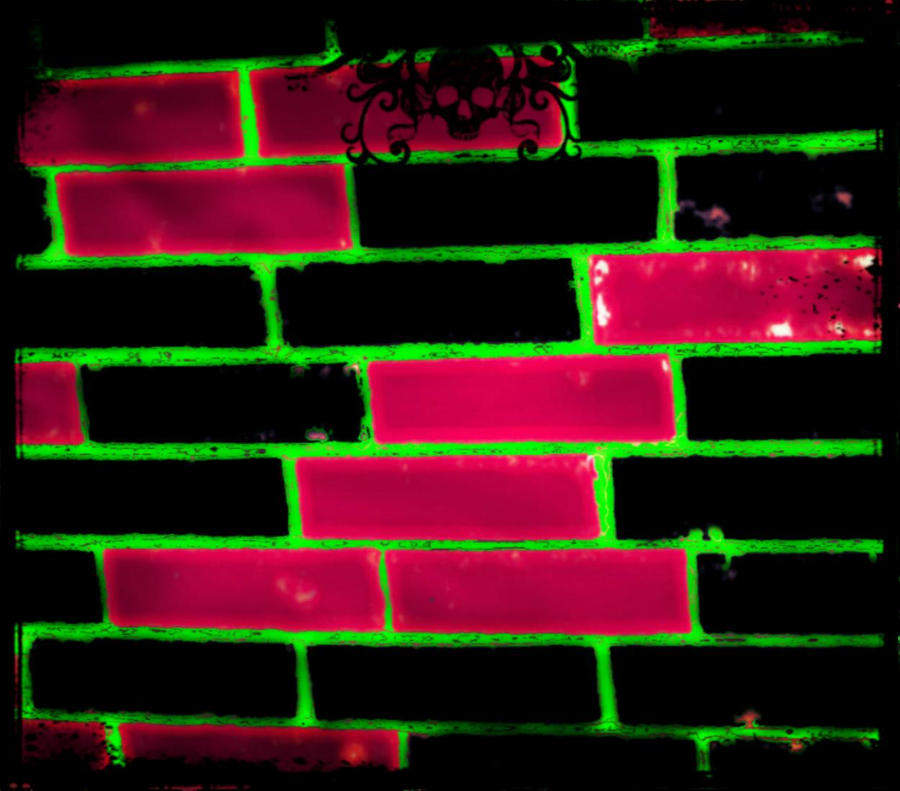 Purple Black and Green Goth Wall by VelmaGiggleWink