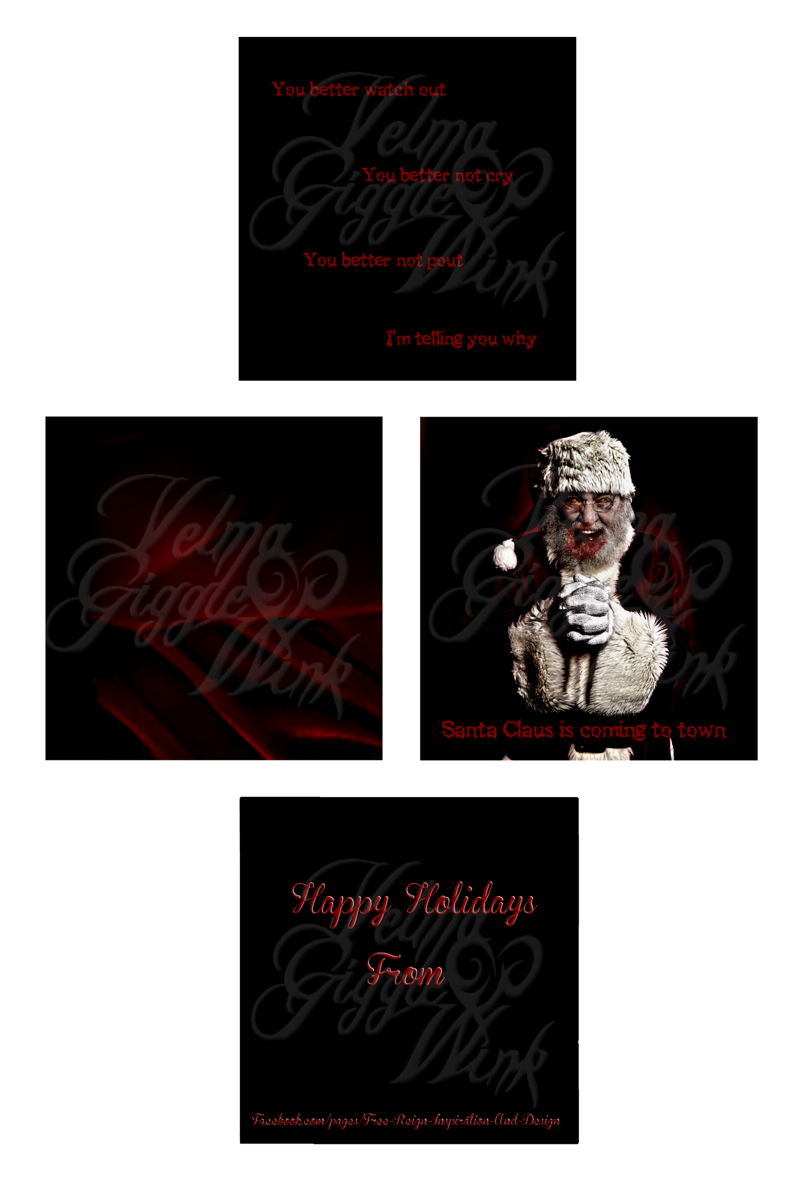 DeviantArt Holiday Card Project- Zombie Santa by VelmaGiggleWink
